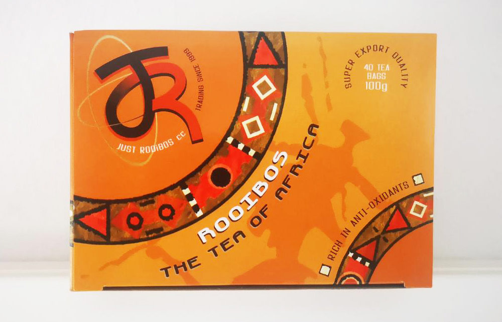 just-rooibos export quality tea box