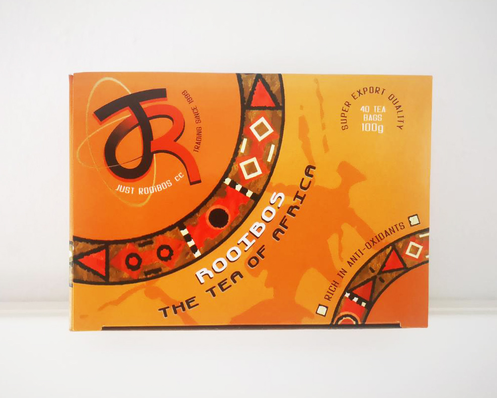 Just-Rooibos rooibos tea box for export